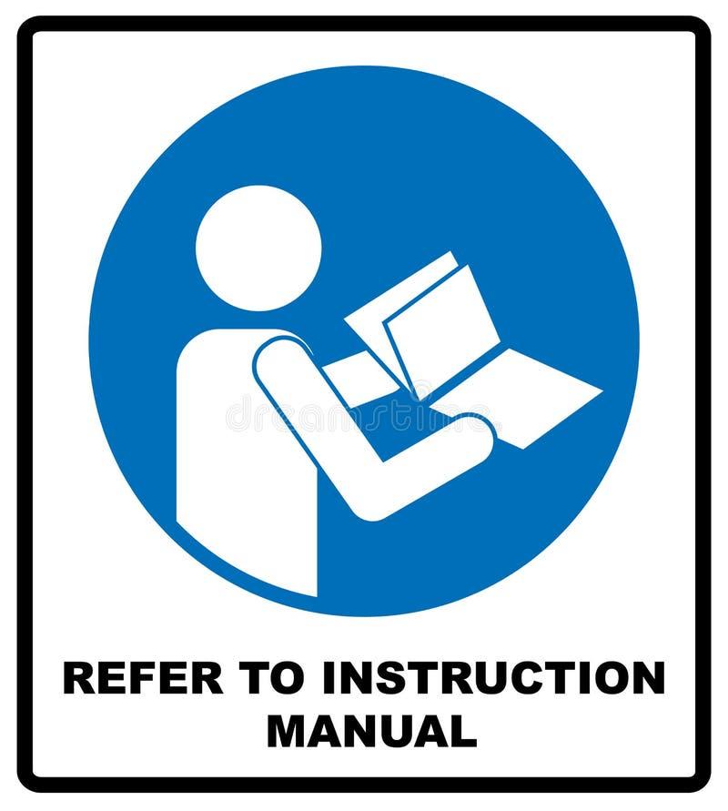 参考说明书小册子 库存例证
