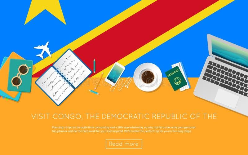 参观刚果,民主共和国  库存例证