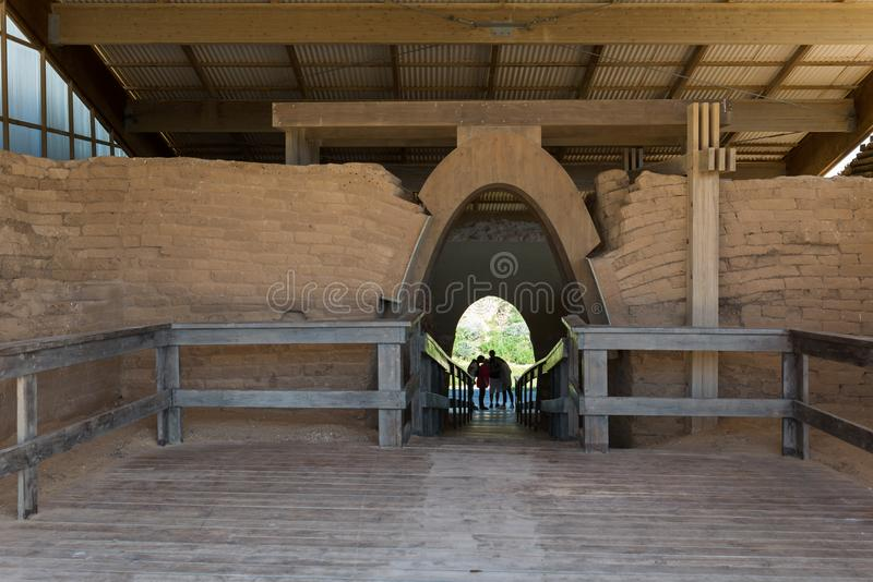 参观的亚实基伦国家公园 免版税库存照片