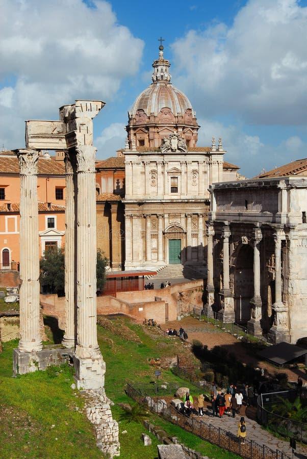 参观的罗马广场 图库摄影