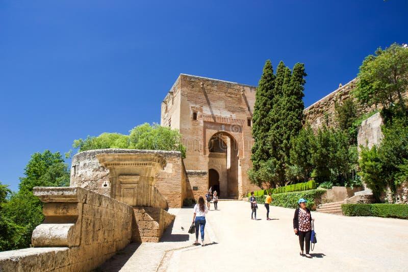 参观的阿尔罕布拉宫城堡 图库摄影