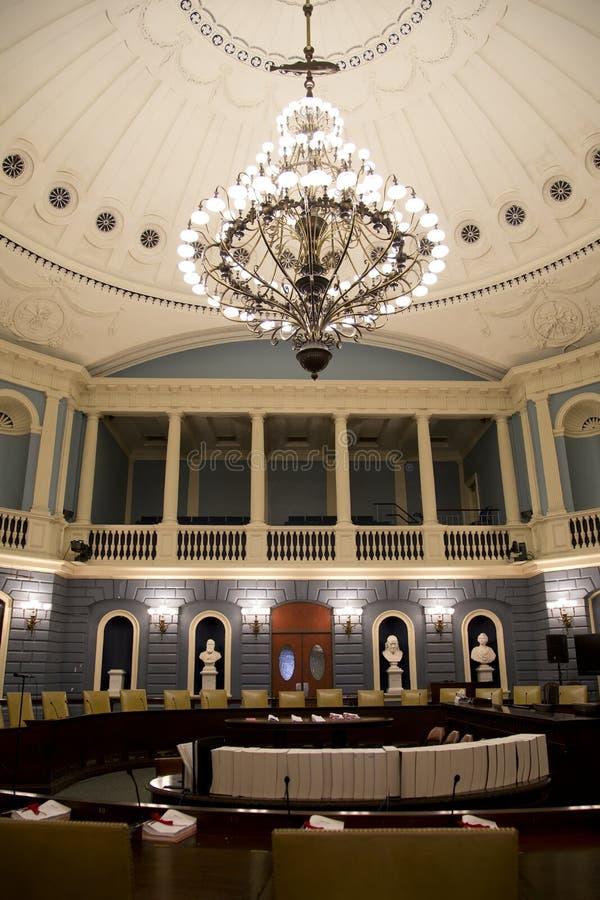 参议院会议室在历史的许多状态议院里 库存照片