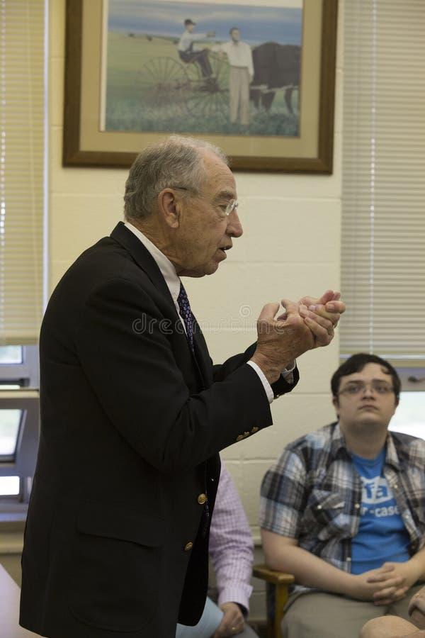 参议院司法主席查尔斯格拉斯利演讲组成部分 库存照片