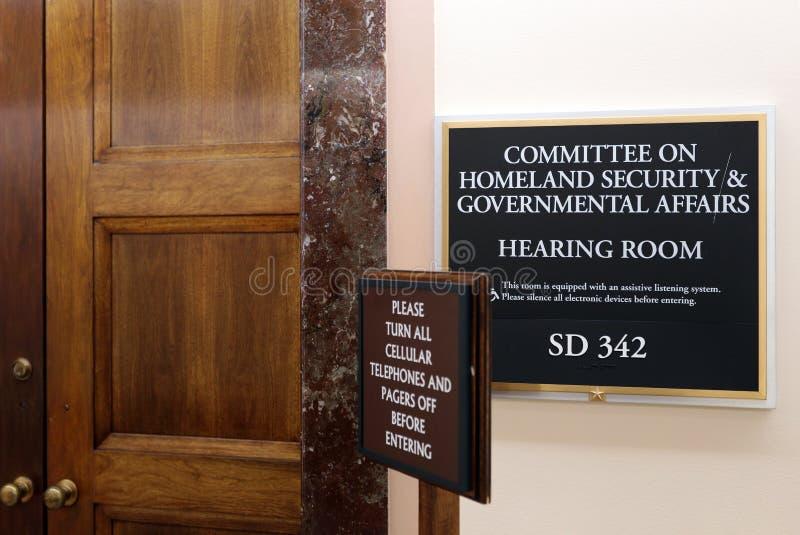 参议院国土安全部和政府事物委员会 库存图片