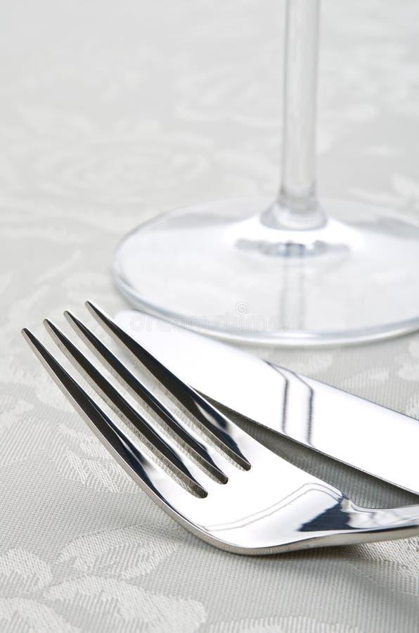 叉子刀子 免版税库存照片