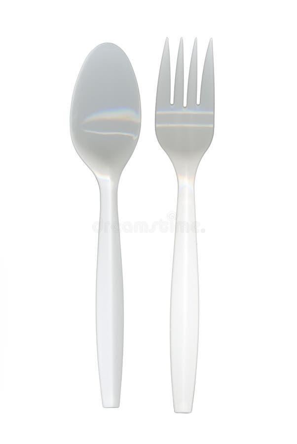 叉子匙子 库存图片