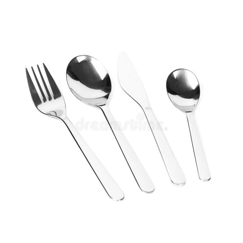叉子厨刀匙子三器物 库存图片
