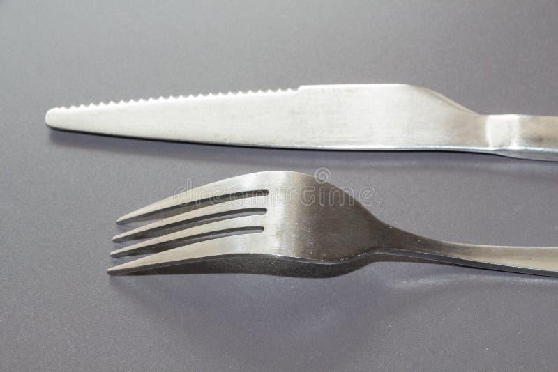 叉子和刀子 库存照片