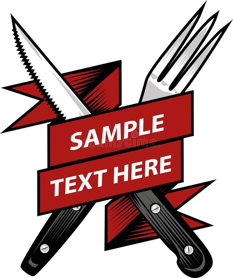 叉子和刀子 库存例证