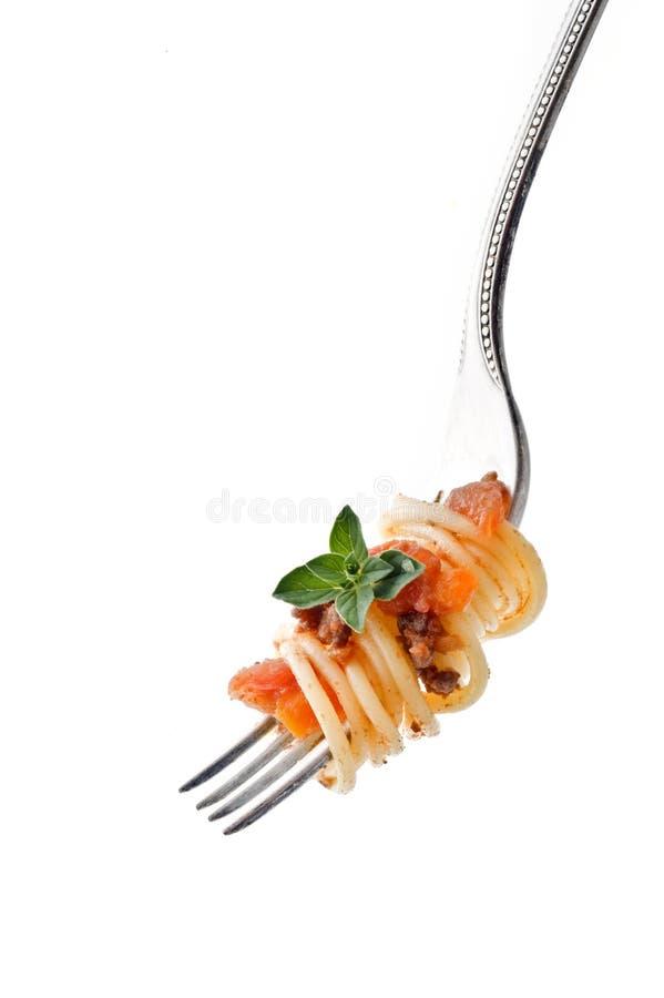 叉子意大利面食 图库摄影