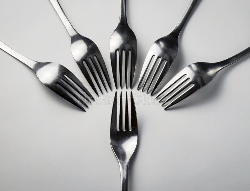 叉子抽象构成 图库摄影
