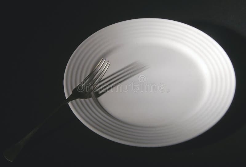 叉子牌照 免版税库存图片