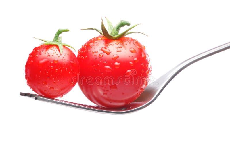 叉子蕃茄 库存照片