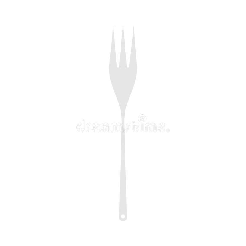 叉子设备餐具工具传染媒介对象象被隔绝的食物 餐馆银器顶视图 库存例证
