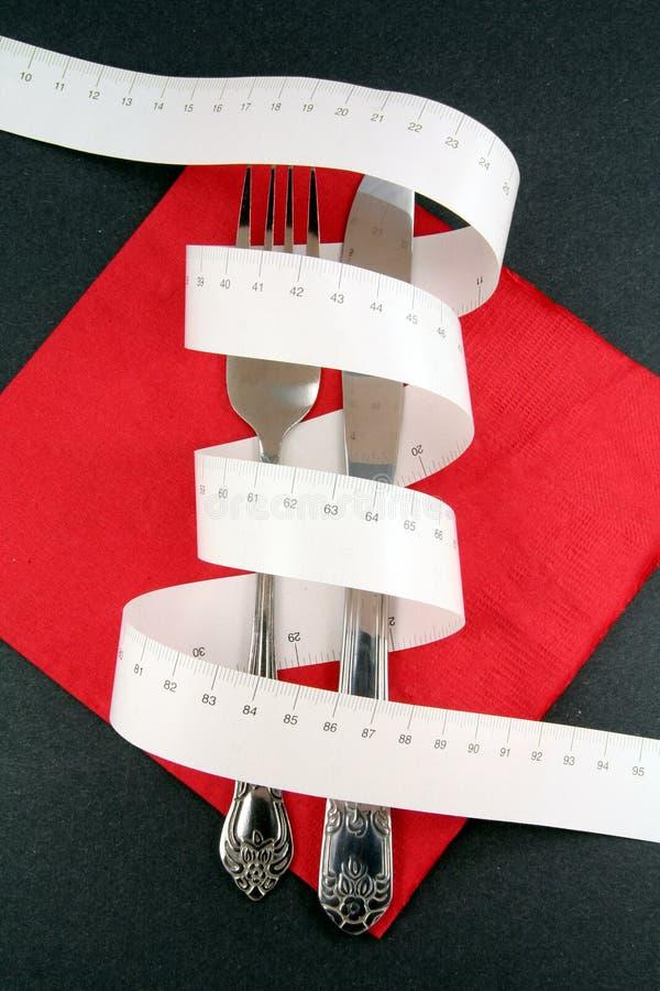 叉子评定磁带 库存照片