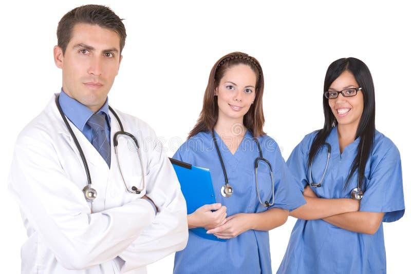 友好医疗保健医疗队工作者 免版税图库摄影