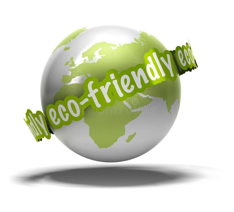 友好地球的eco 皇族释放例证