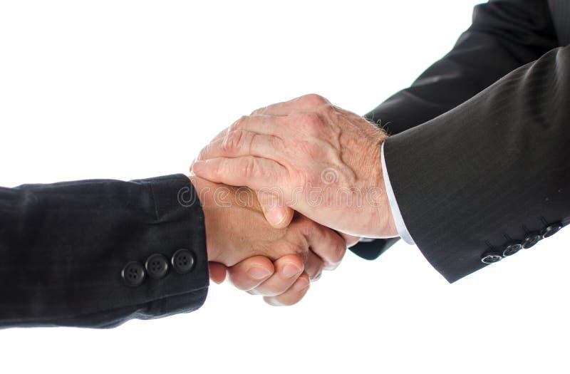 友好的企业握手 库存照片