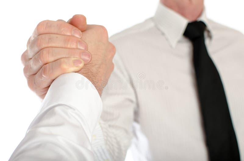 友好的企业握手 免版税库存图片