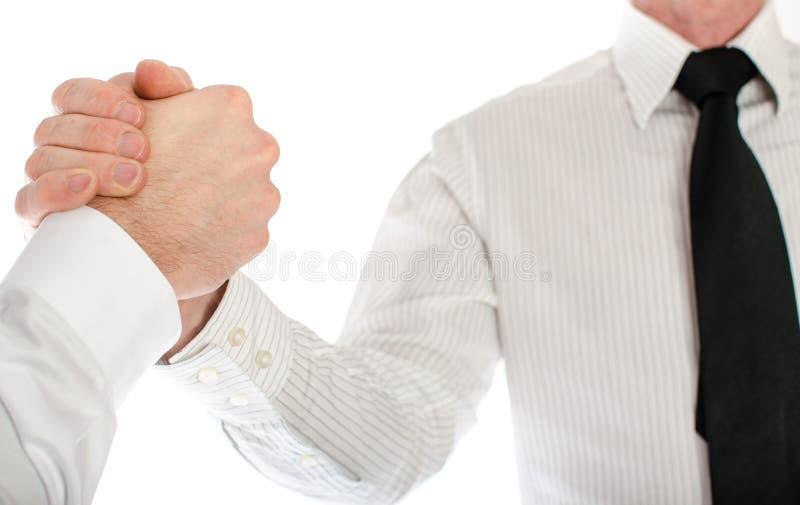 友好的企业握手 库存图片