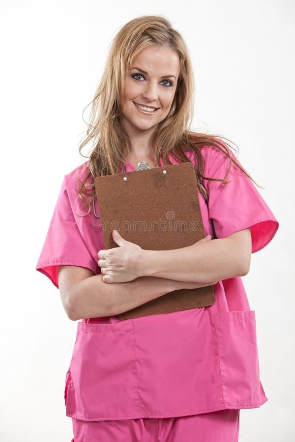 相当有吸引力的二十白种人护士 库存图片