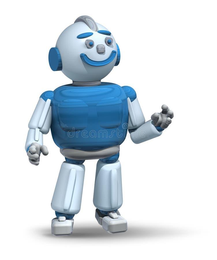 友好的机器人准备服务3d 向量例证