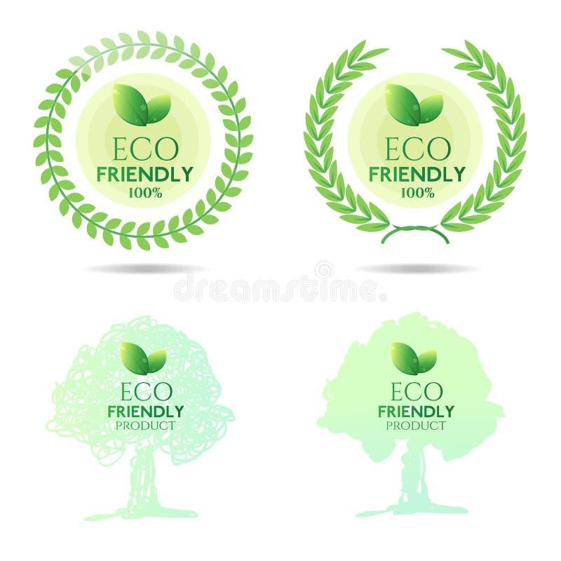 友好的Eco 皇族释放例证