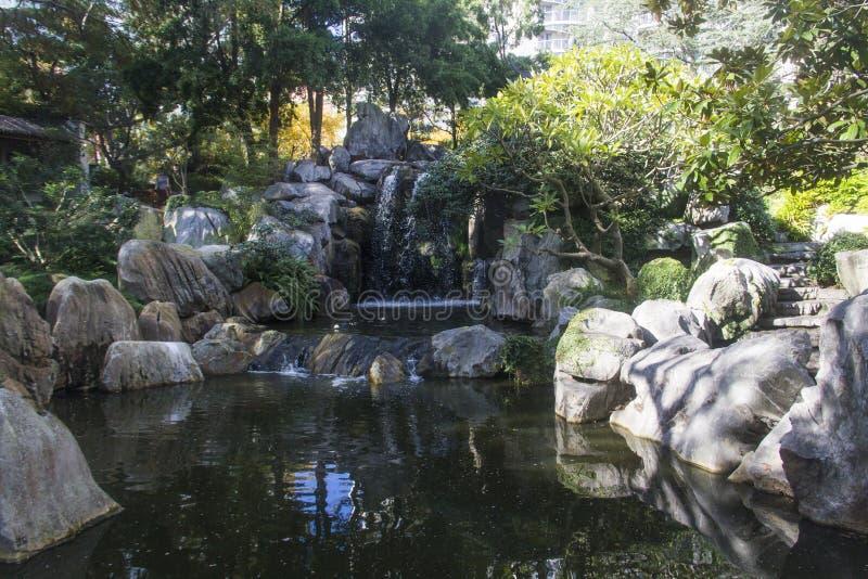 友谊池塘悉尼,澳大利亚中国庭院  库存图片