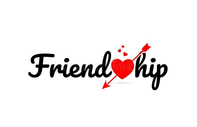 友谊词文本印刷术设计商标象 库存例证