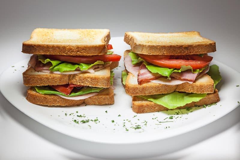 双三明治 免版税库存图片