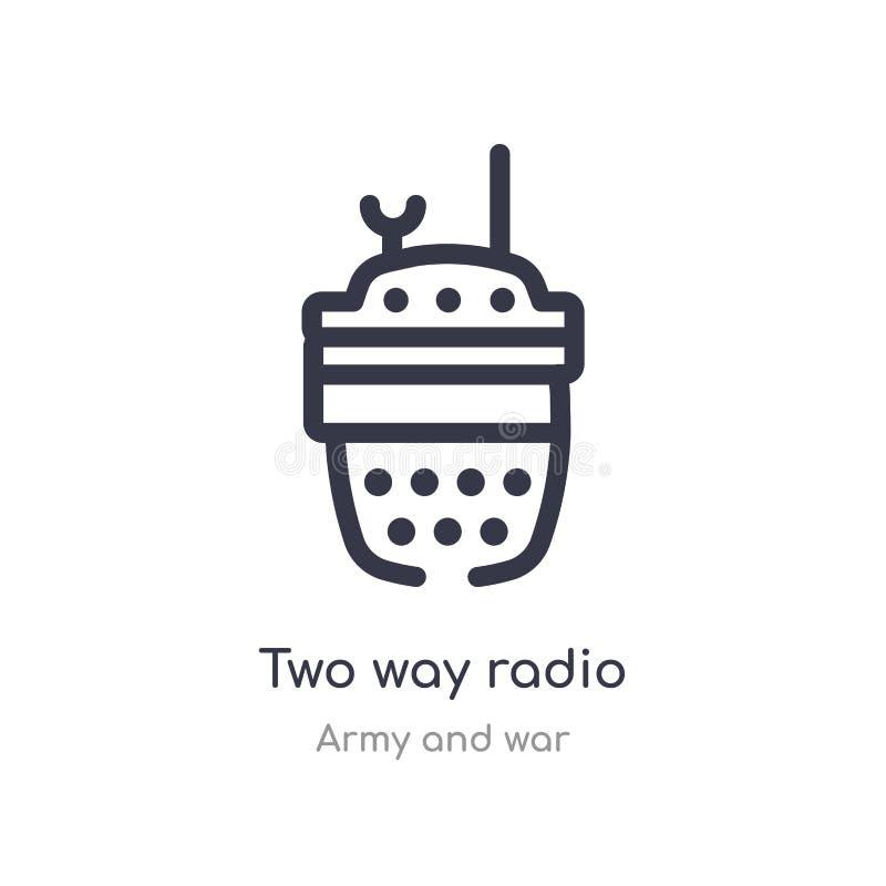双向无线电概述象 r 编辑可能的稀薄的冲程双向收音机 库存例证