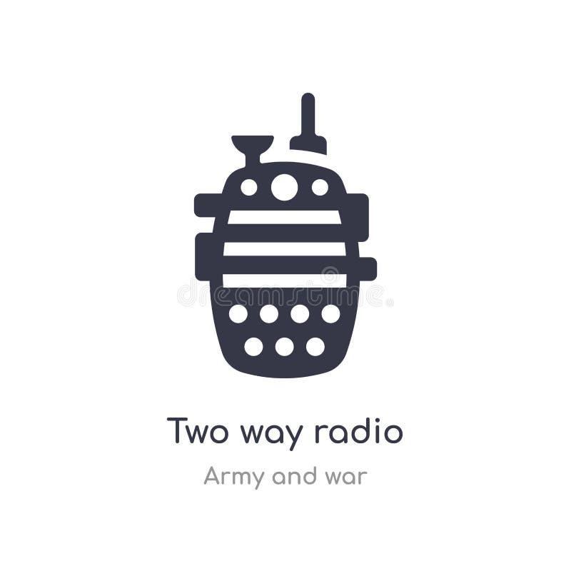 双向无线电象 从军队和战争汇集的被隔绝的双向无线电象传染媒介例证 r 向量例证