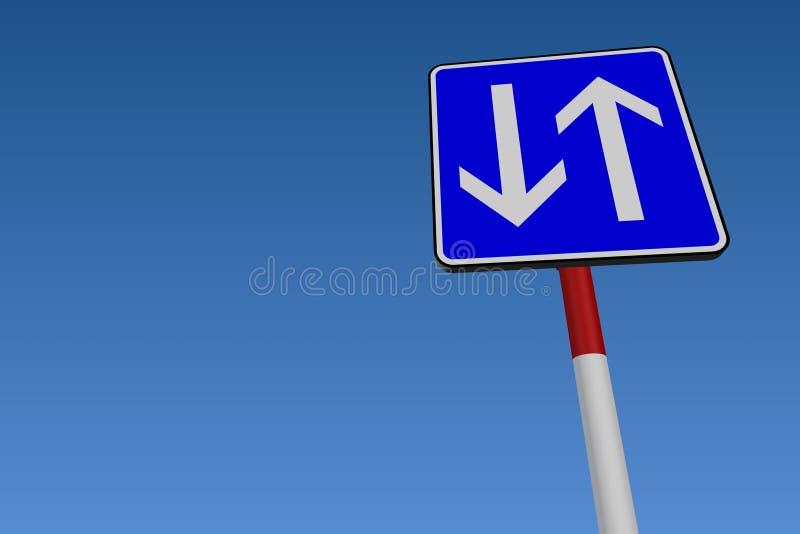 双向的街道 皇族释放例证