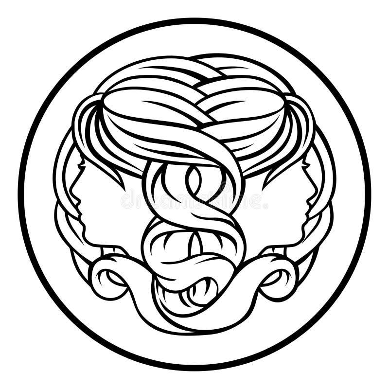 双子星座孪生黄道带占星占星术标志