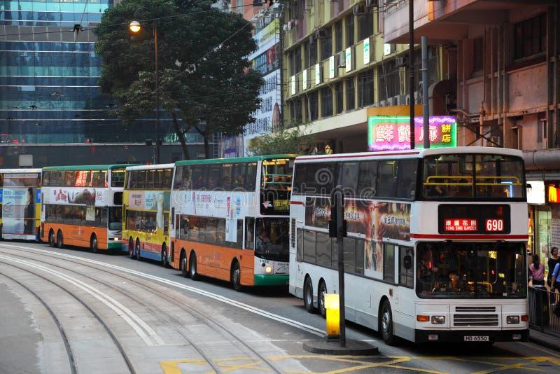 双层公共汽车在香港 库存图片