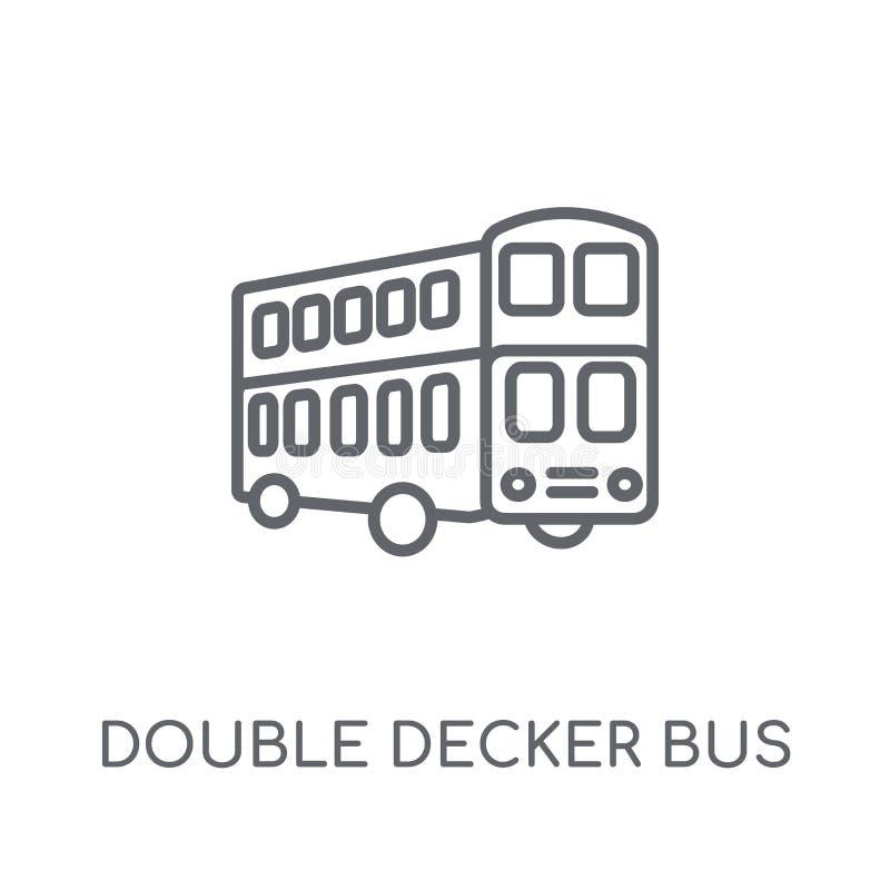 双层公共汽车线性象 现代概述双层公共汽车 库存例证