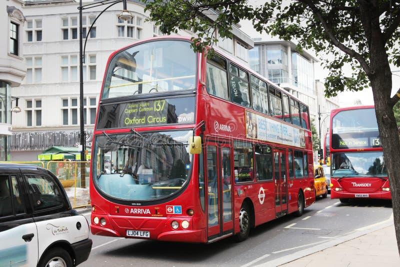 双层汽车在大英国 免版税库存图片