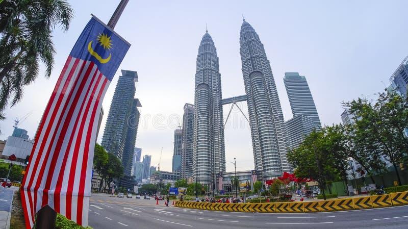 双峰塔马来西亚KLCC 免版税库存图片