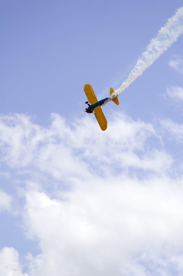 双底层飞机天空 库存图片