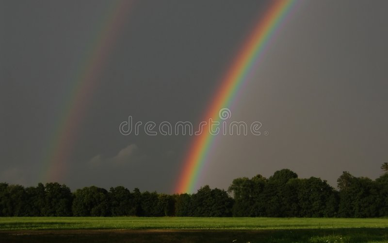 双彩虹 库存照片