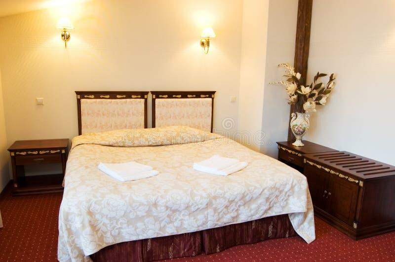 双旅馆客房 免版税库存照片