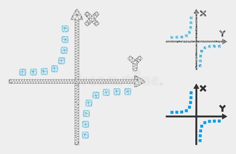 双曲线剧情传染媒介滤网第2个模型和三角马赛克象 库存例证