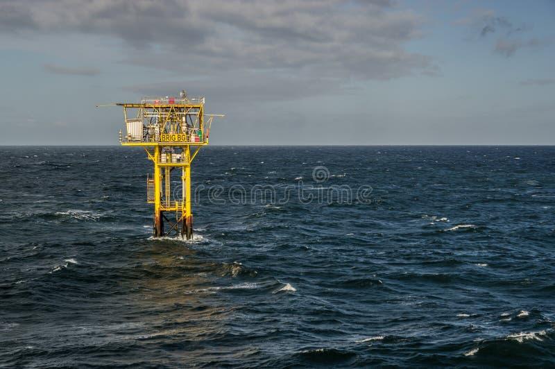 双桅帆船BG无人气体平台landsacpe视图 库存照片
