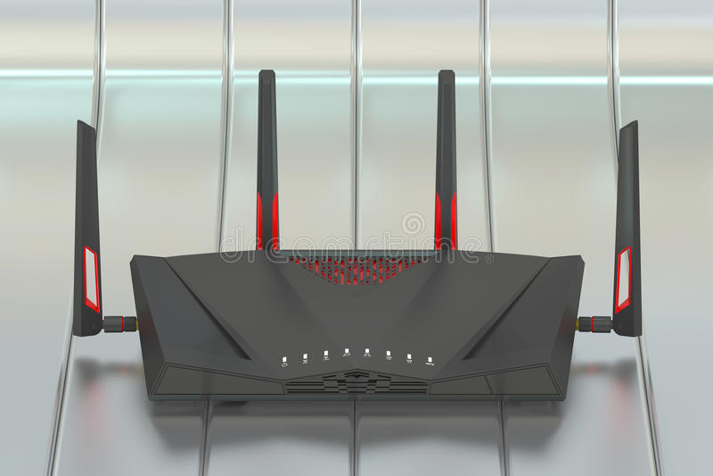双波段无线互联网路由器, 3D翻译 向量例证