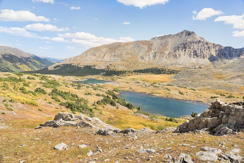 双湖、杉木谷、大学峰顶原野、派克和S 免版税库存图片