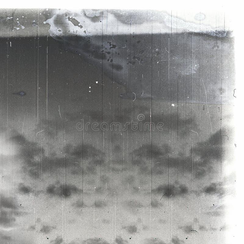 双照片被打印的天空被弄脏的葡萄酒 皇族释放例证