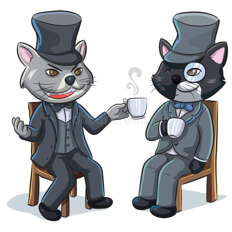 双猫 皇族释放例证
