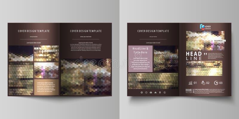 双的企业模板折叠小册子,杂志,飞行物,小册子,报告 报道设计模板,在A4的传染媒介布局 皇族释放例证
