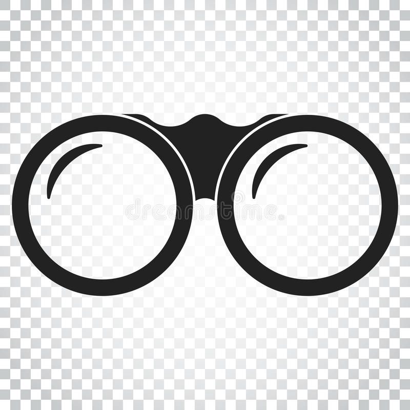 双眼传染媒介象 双筒望远镜探索平的例证 sim 皇族释放例证