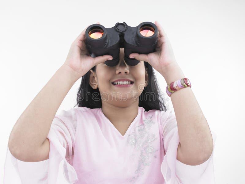 双眼女孩查找 免版税库存照片